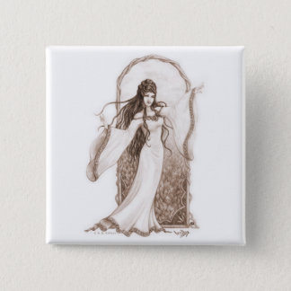 Elf Dancing 15 Cm Square Badge