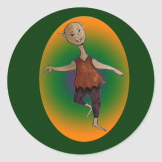 Elf Dancing in the Light Sticker