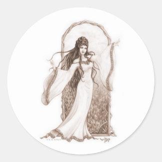 Elf Dancing Round Sticker