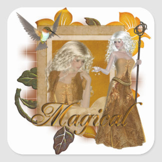 Elf Designs :: Magical by MarloDee Designs Square Sticker