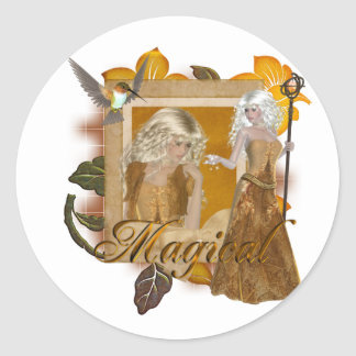 Elf Designs :: Magical by MarloDee Round Sticker