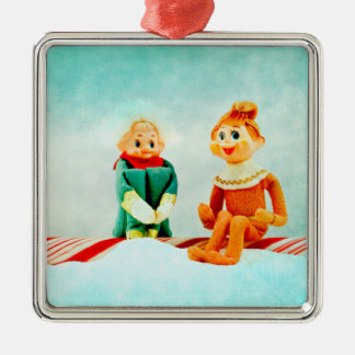 Elf First Date Christmas Ornaments