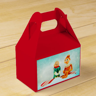 Elf First Date on Red Favour Box