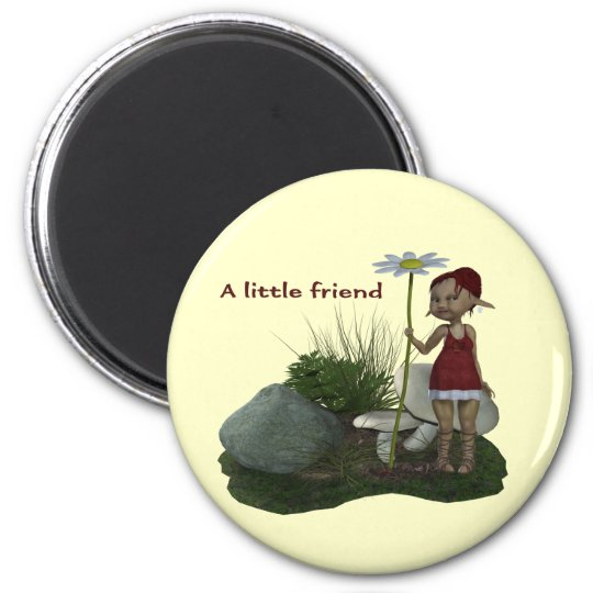Elf Girl BFF With Daisy Magnet