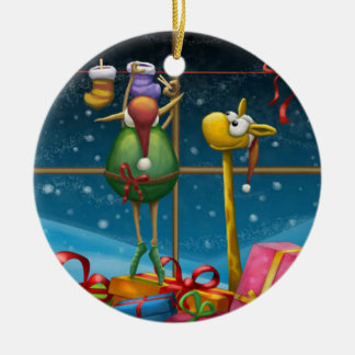Elf Hanging Up Stockings Christmas Ornament