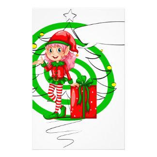 Elf helper customized stationery