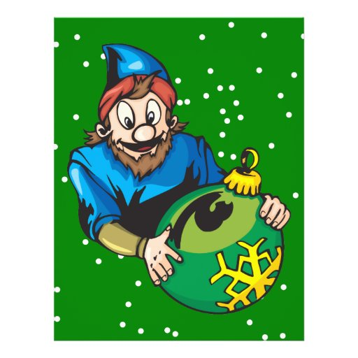 Elf Holding Christmas Ornament Personalized Flyer