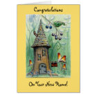 """""""Elf House"""" Happy New Home Greeting Card"""