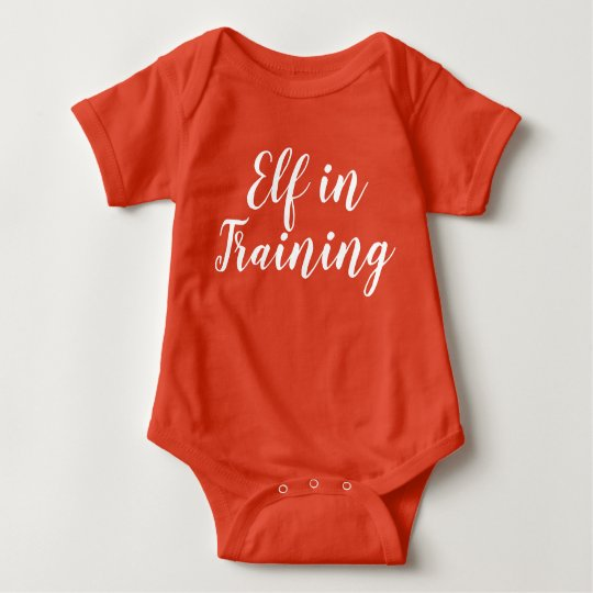 Elf In Training Christmas Baby One Piece Bodysuit