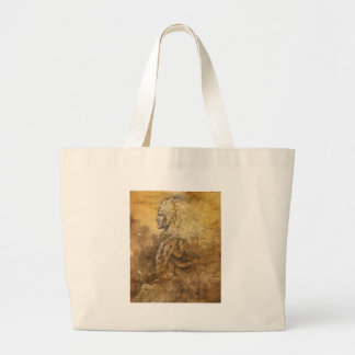 Elf King Large Tote Bag