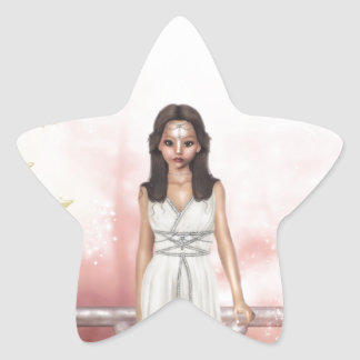 Elf Lady Awaiting Star Sticker