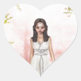 Elf Lady Awaiting Heart Sticker