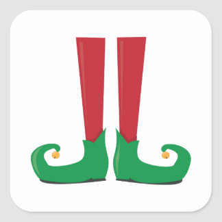 Elf Legs Square Sticker