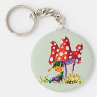 ELF & MUSHROOMS by SHARON SHARPE Key Ring