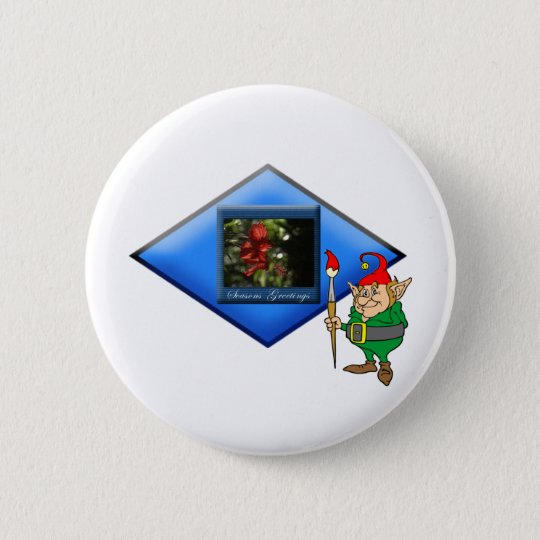 Elf Nature's Painter :-) 6 Cm Round Badge