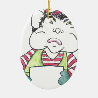 ELF OFF the angry elf. Christmas Ornament
