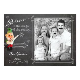 Elf on Shelf  | Mustache Holiday Photo Card