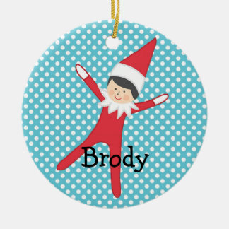 Elf on the Ornament Personalized