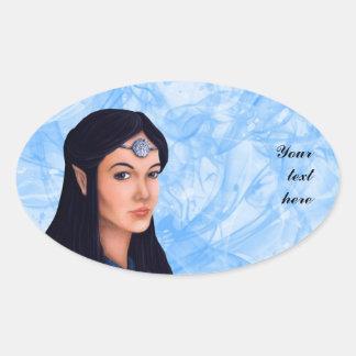Elf Princess Oval Sticker