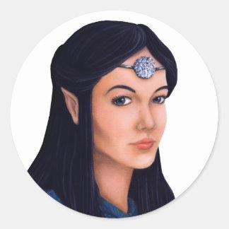 Elf Princess Round Sticker