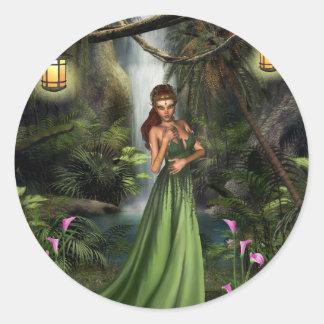 Elf Queen Classic Round Sticker