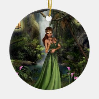 Elf Queen Round Ceramic Decoration