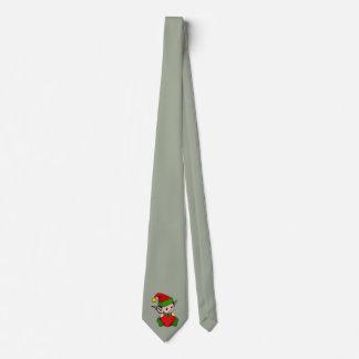 Elf red heart tie