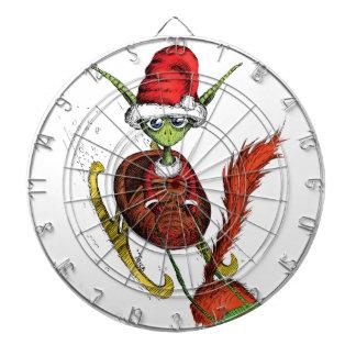 Elf Riding Sleigh Dartboard With Darts