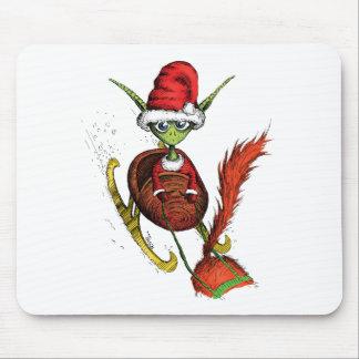 Elf Riding Sleigh Mousepad