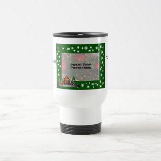 Elf Scene Christmas Photo Travel Mug