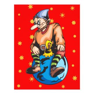 Elf Sitting On Christmas Ornament Flyer Design