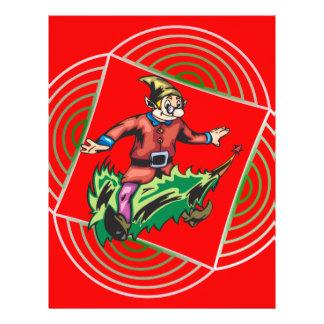 Elf Sitting On Christmas Tree Custom Flyer