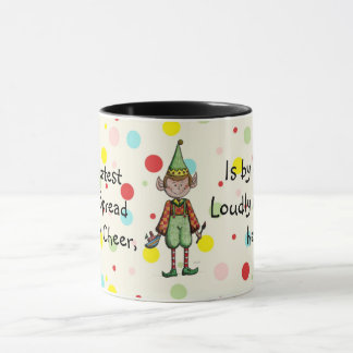 Elf Spreading Christmas Cheer Mug