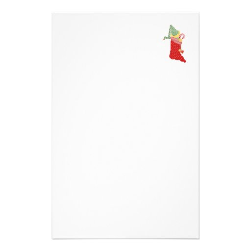 Elf Stocking Stationery Paper