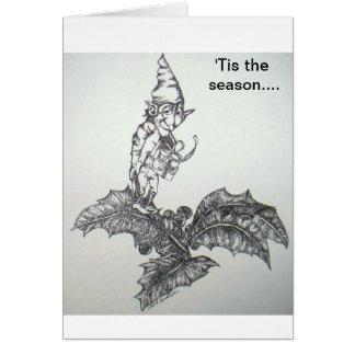 elf, 'Tis the season.... Card