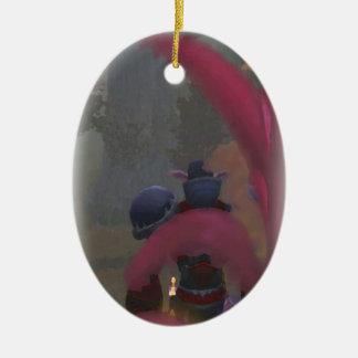 Elf traveller ceramic oval decoration