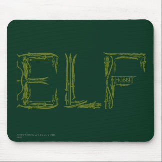 Elf Weapons Collage Mouse Mat
