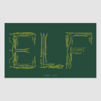 Elf Weapons Collage Rectangular Sticker