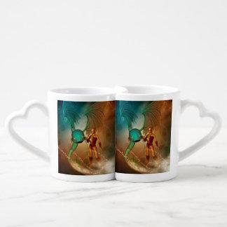 Elf with mystical fish lovers mug