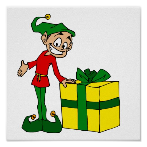 elf with package print