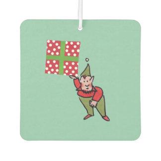 Elf With Red Polka Dot Gift car freshener 2-sided