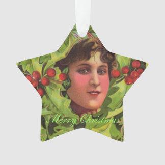 Elfen Boy Holly Holiday Ornament