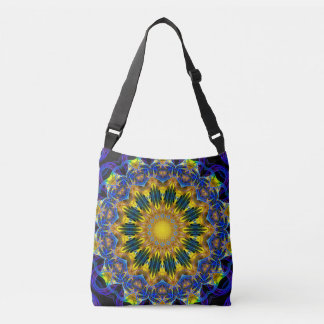 Elfen home Mandala (applied & blue) Crossbody Bag