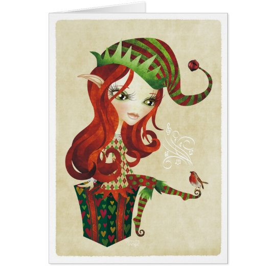 Elfie Christmas Greeting Card