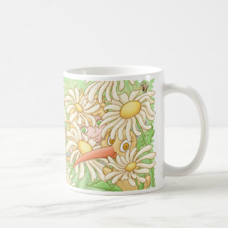 Elfleda and Kiwi in the daisies Coffee Mug