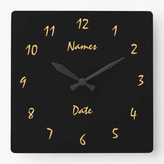 Elgant Wedding Anniversary Customised Square Wall Clock