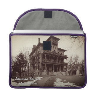 Elgin Illinois 1890's Sherman Hospital Building Sleeve For MacBooks