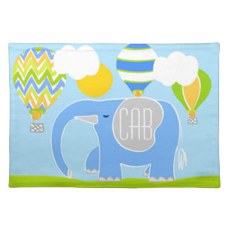 Eli Blue the Elephant Cotton Placemat