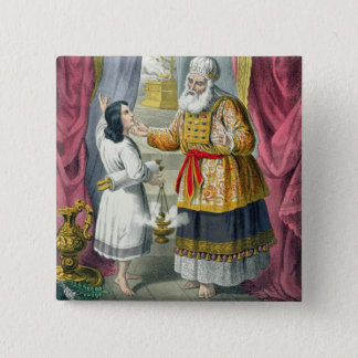 Eli Questioning Samuel Regarding the Vision, from 15 Cm Square Badge
