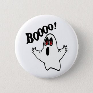 "Eli, The Expressive Ghost With ""Boooo!"" 6 Cm Round Badge"